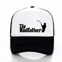 Summer Fashion Adult The Rodfather Funny Fishinger baseball cap  Men women Cool Printed mesh trucker hat