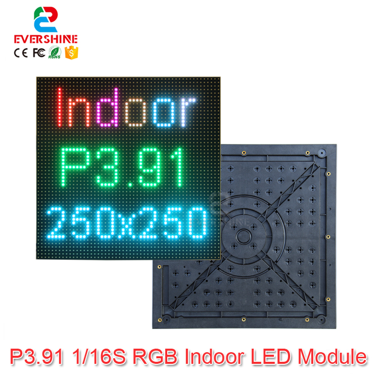 <font><b>Aliexpress</b></font> New Video Wall P3.91 RGB SMD 1/16 scan full color led module Size 250 x 250mm Best Sell in <font><b>Australia</b></font> North America image