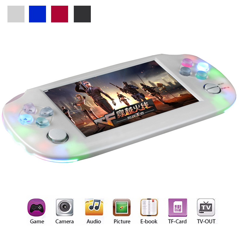 Portable 8GB Video Games Consoles 4 3 Children Handheld Gaming Player MP4 MP5 Multimedia player Support
