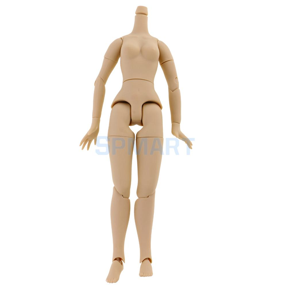 1/6 Flexible 19 Joints Japanese Skin Big Chest Nude Jointed Body for 12'' Doll DIY Change Costom Use blygirl blyth doll golden wave curls doll no 31bl74 joints body 19 joints normal skin the hand can be rotated
