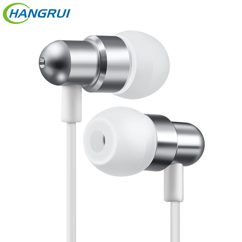 HANGRUI Sport Earphone In-ear Headset with HD microphone Bass music player earbud earphones for iphone Samsung xiaomi headsets mambaman me17 stereo earphones 3 5mm bass headset in ear portable earbuds with microphone for huawei xiaomi iphone 6 mp3 player