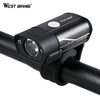מערב נטענת USB עמיד למים רכיבה על אופניים אור שפתוחה אופניים רכיבה על אופניים אור פנס 350 לום 5 מצבי אופני אור אזהרה בצד