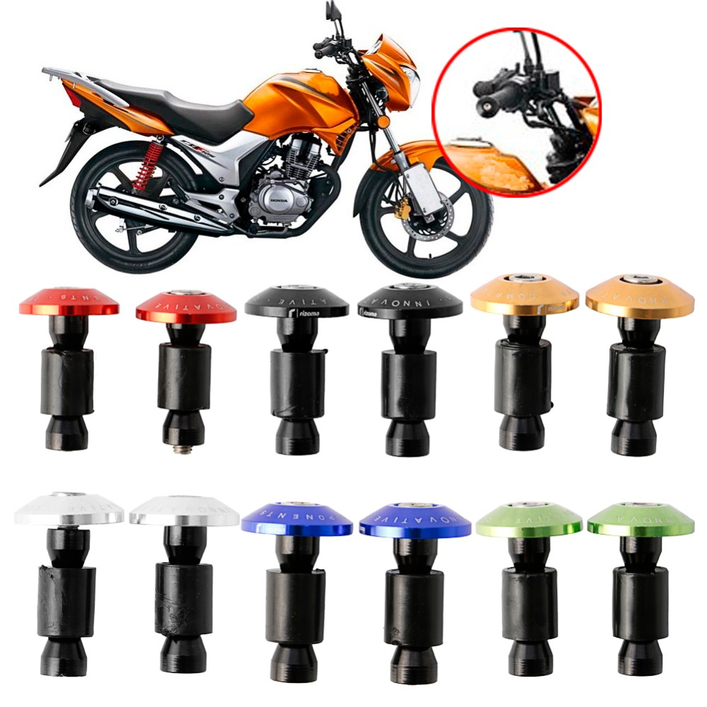 CNC Handlebar Grips Slider Cap Plug Motorcycle Dirt Bike Aluminum New Bar End