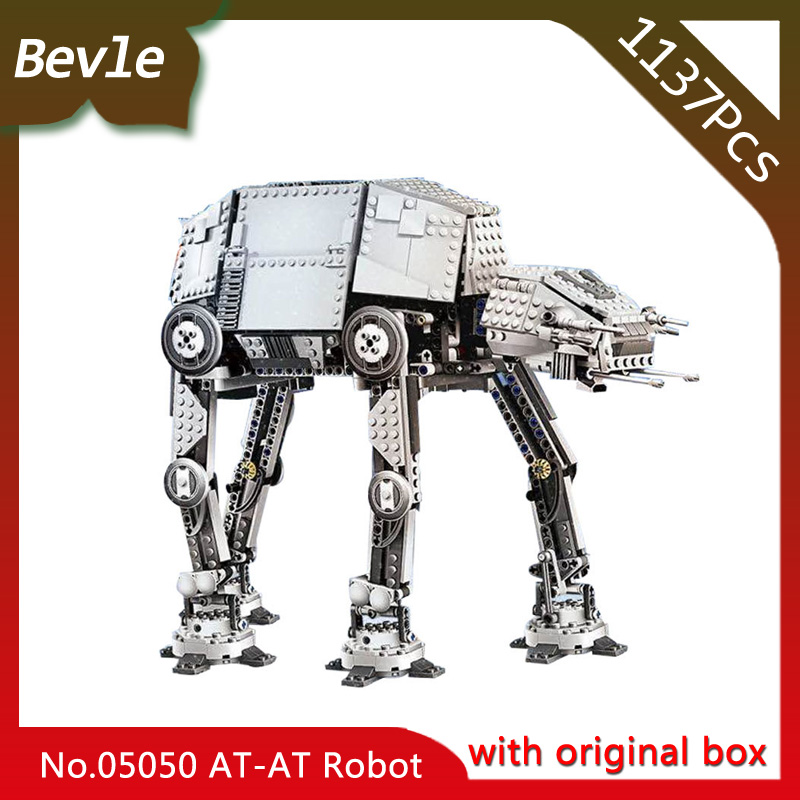 Bevle Store LEPIN 05050 1137Pcs with original box star space Series Electric Motorized Walking AT-AT  Building Kits Blocks 10178 bevle store lepin 16008 4080pcs with original box movie series cinderella princess building blocks for children toys 71040