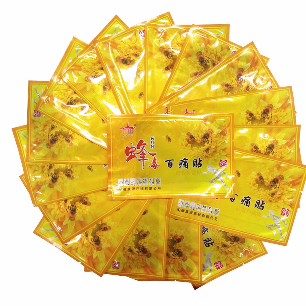 100Pcs Chinese Medicines Bee Venom Balm Joint Pain Patch Necs
