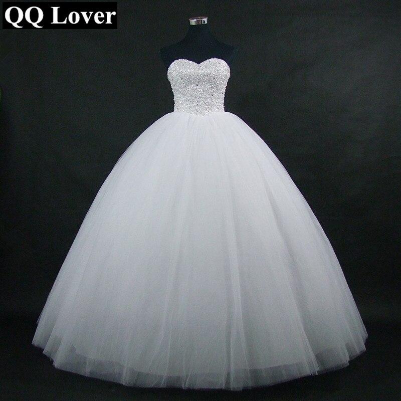 QQ Amant 2018 Nouveau Sparkling Robe De Bal Robe De Mariée Sur Mesure Plus La Taille Robe De Noiva Robe De Mariage De Mariée