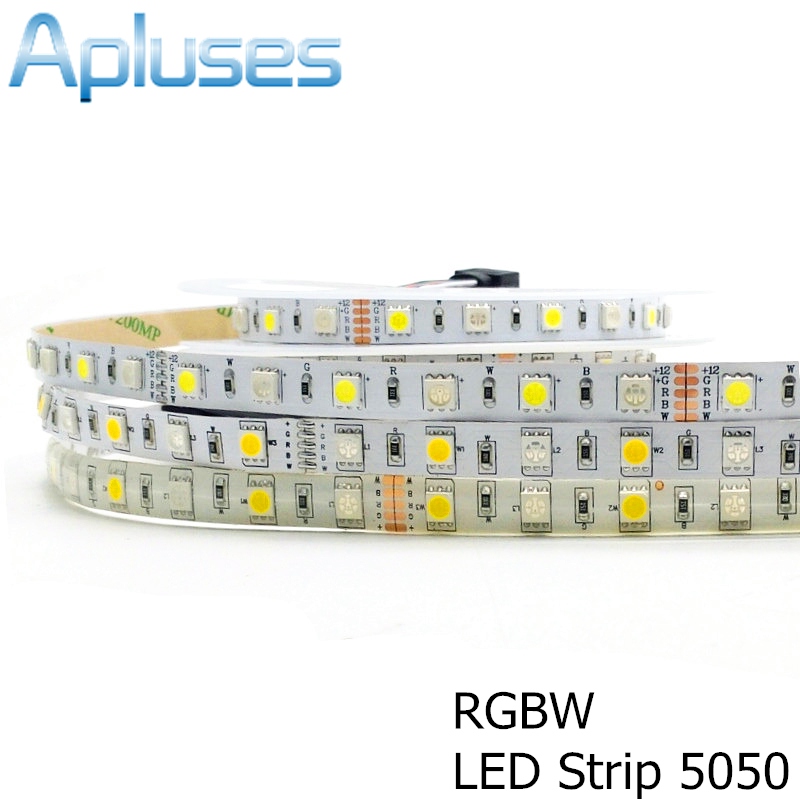 Tira de LED 5050 RGBW Impermeable IP65 / IP20 DC12V Luz LED flexible RGB + Blanco / Blanco cálido 60 LED / m Decoración Iluminación