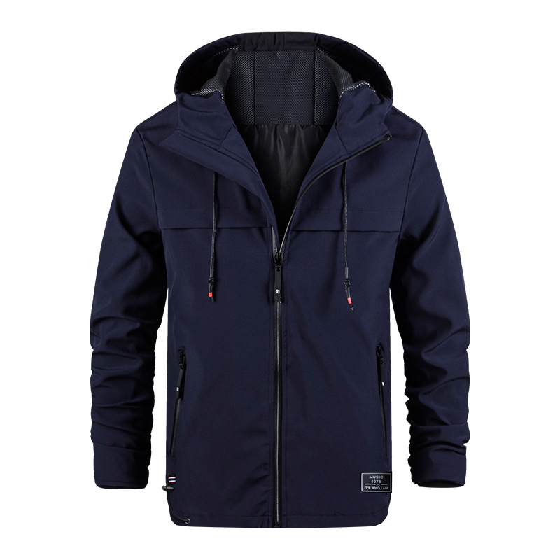 Automne Sunmer Manteau Veste Hommes Confortable vestes imperméables grande taille XXXXL Polyester vestes à capuche Pour Hommes Coupe-Vent M-4XL
