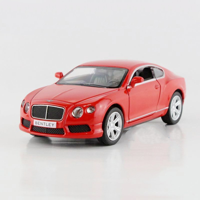 Freeshipping Children Kids UNI-FORTUNE Bentley Continental GT Alloy Diecast Car Toy Pull Back Action Doors Openable Present Gift