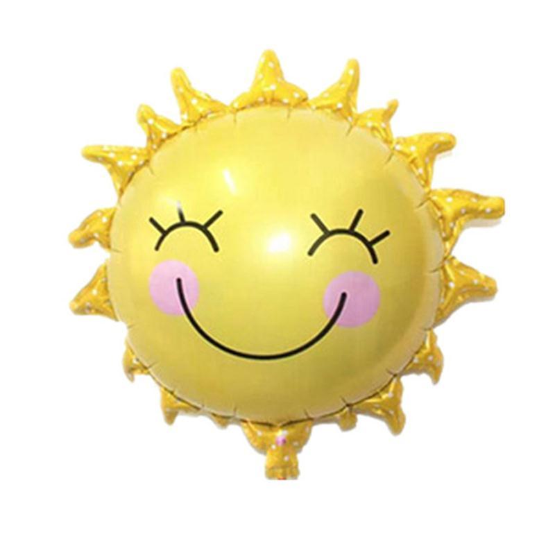 Солнце цветок фольга шары улыбка лицо Майларовый шар прекрасная детская игрушка для дня рождения украшения