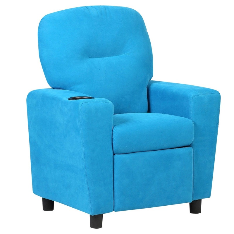Blue / Brown Kids Recliner Arm Chair Kid Sofa High Quality Living Room Furniture HW54208BL