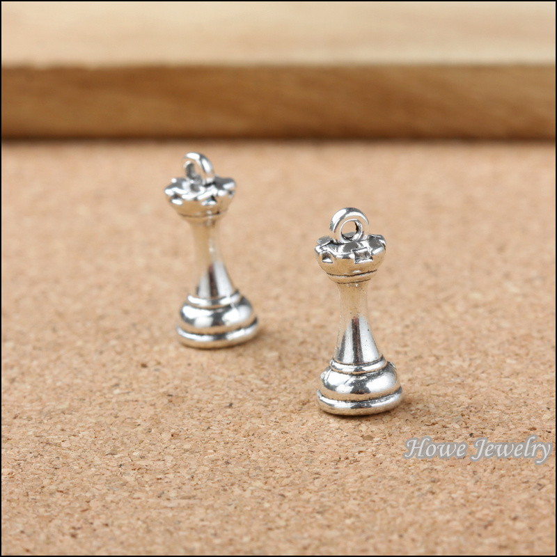 Wholesal 16Pcs//Set Antique Silver Bronze International Chess Charms Pendants