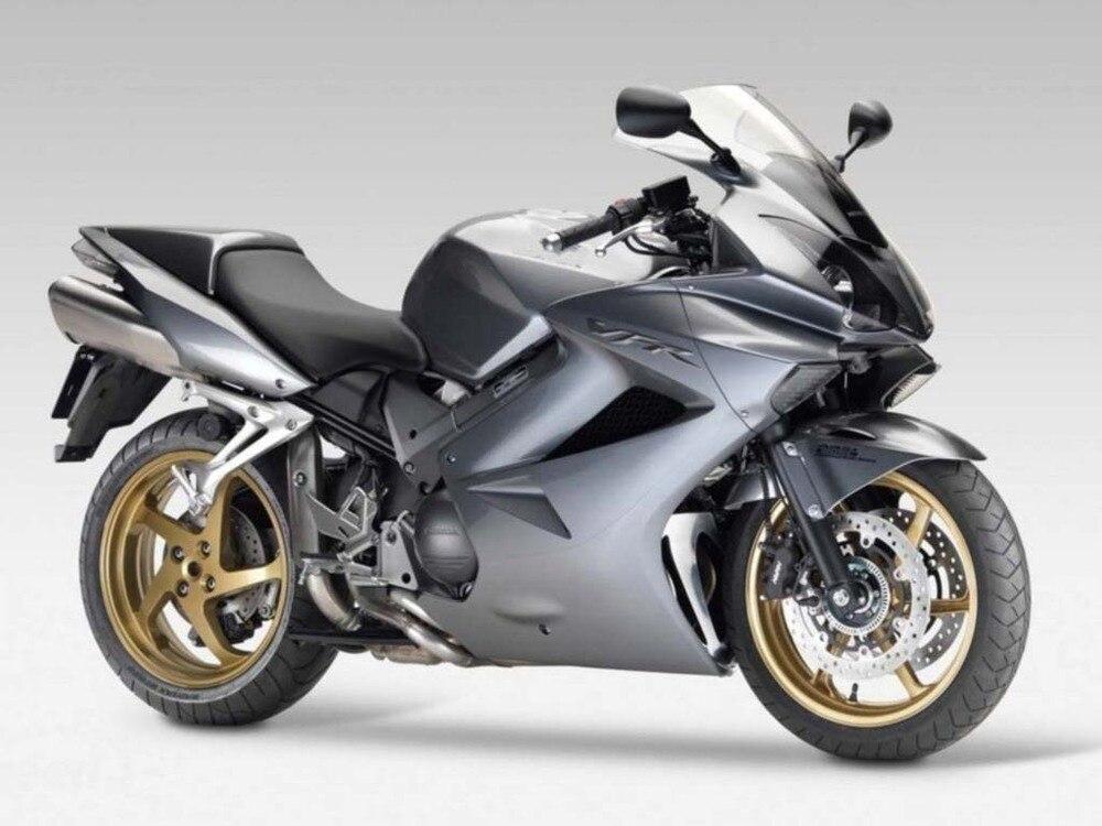 Para VFR 800 2002 2003 2004 2005 2006 2007 2008 2009 2010 2011 2012 Plástico ABS Kit Carenagem da motocicleta VFR800 02-12 CB06