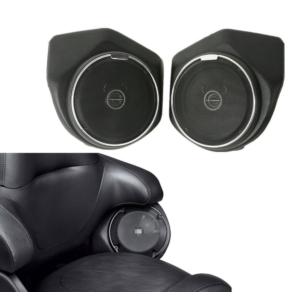 Backrest Tour Pak Trunk Rear Speaker For Harley Touring Road King Street Electra Glide Ultra Limited FLHR Special FLTRXS 14 19-in Covers & Ornamental Mouldings from Automobiles & Motorcycles    1