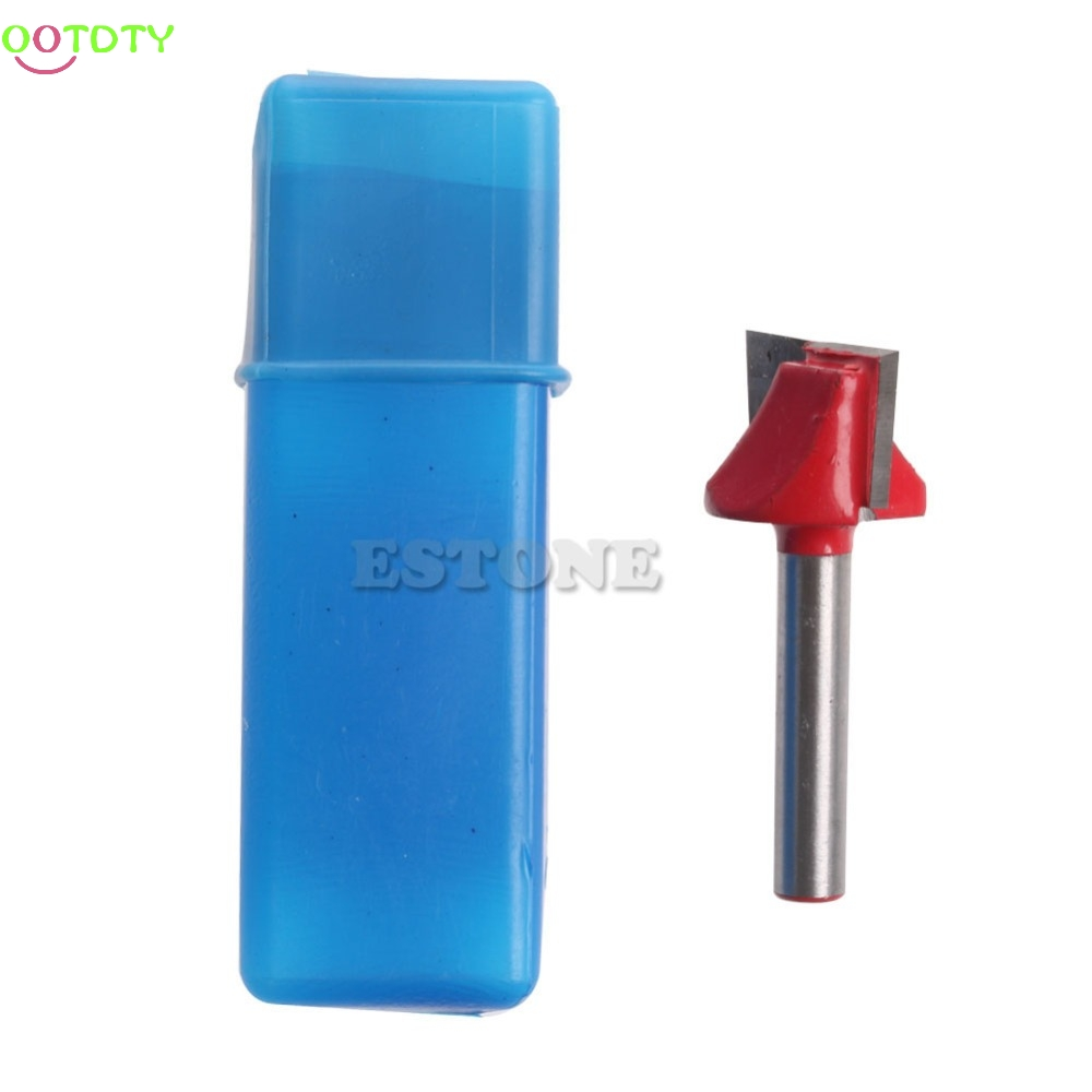 1/4 Router CNC Woodworking V Groove Bottom Cleaning Bit 6mmx22mm Milling Cutter ...