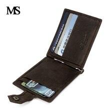 2017 New Genuine Leather Mini wallet Men Zipper Coin Pocket Dollar money clip vintage Real wallets TW1664