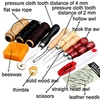 14 Pcs Wood Awl Waxed Thimble Needle Scissor Sewing Leather Craft Tools Kit Leathercraft Accessories For Personalizing