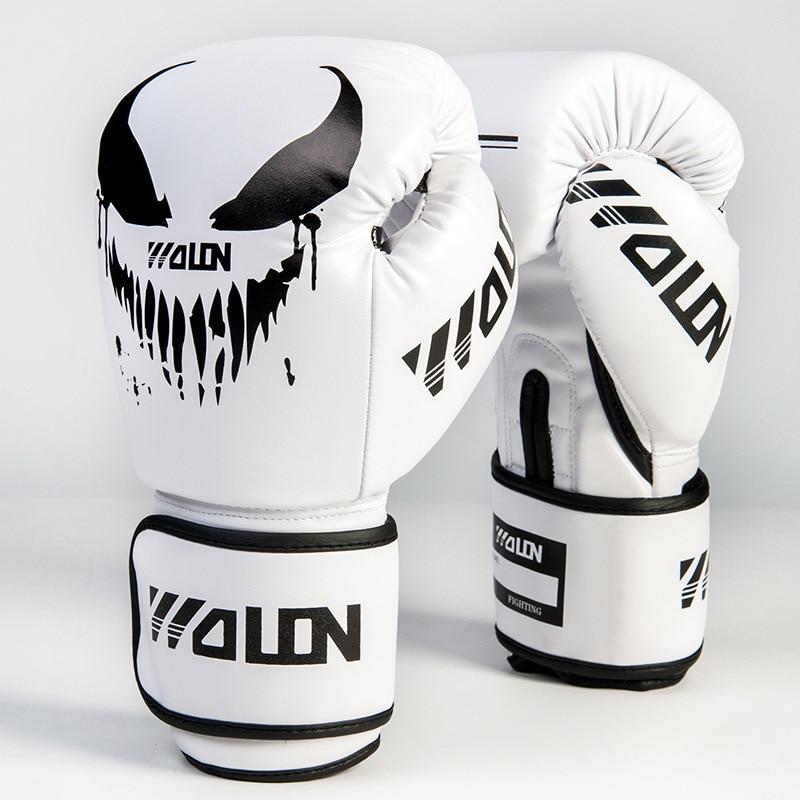 negro entrenamiento acolchado de boxeo para artes marciales 1 unidad Muay Thai entrenamiento de boxeo Almohadillas de boxeo de piel a la moda