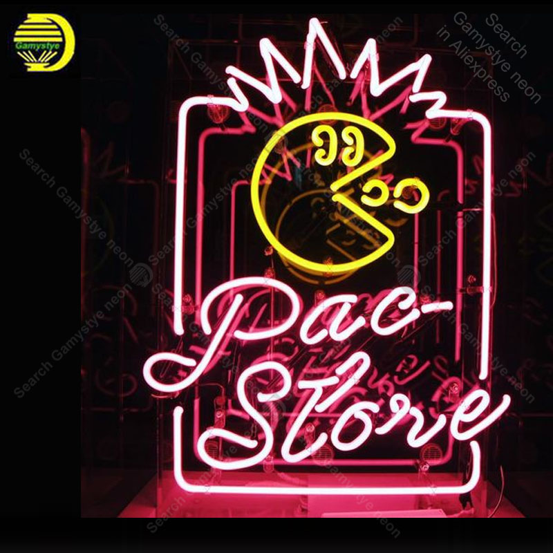 Neon Night sign for Pacman Japan Neon Lights Game Room wall decoration hotel custom Lamp advertise Letrero Neon enseigne lumine