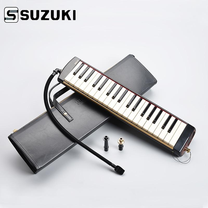 SUZUKI PRO-37V2 Pro 37-Key Professional Melodion Alto Melodica with Case Professional Performance suzuki s 32c soprano melodion with case and mouthpiece 32 key melodica professional performance