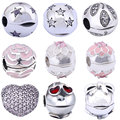 925 Silver Clip Charms Bead for Pandora DIY Accessories 1 Piece AAA Crystal Open S925 Sterling Beads for Jewelry Making Charm