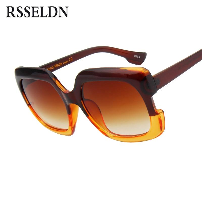 4fb8b5bd9 RSSELDN Luxo Quadrado Do Vintage Óculos De Sol Das Mulheres Designer de Marca  Retro Feminino Óculos de Sol Da Moda de Grandes Dimensões Para As Mulheres  ...