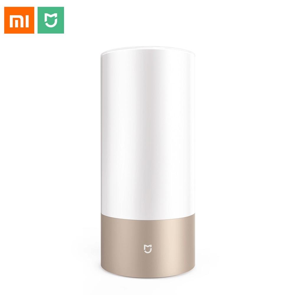 Xiao mi mi jia mi accueil Table de chevet intelligente cylindre tactile Dimmable lampe à LED Bluetooth et WiFi double contrôle par téléphone intelligent