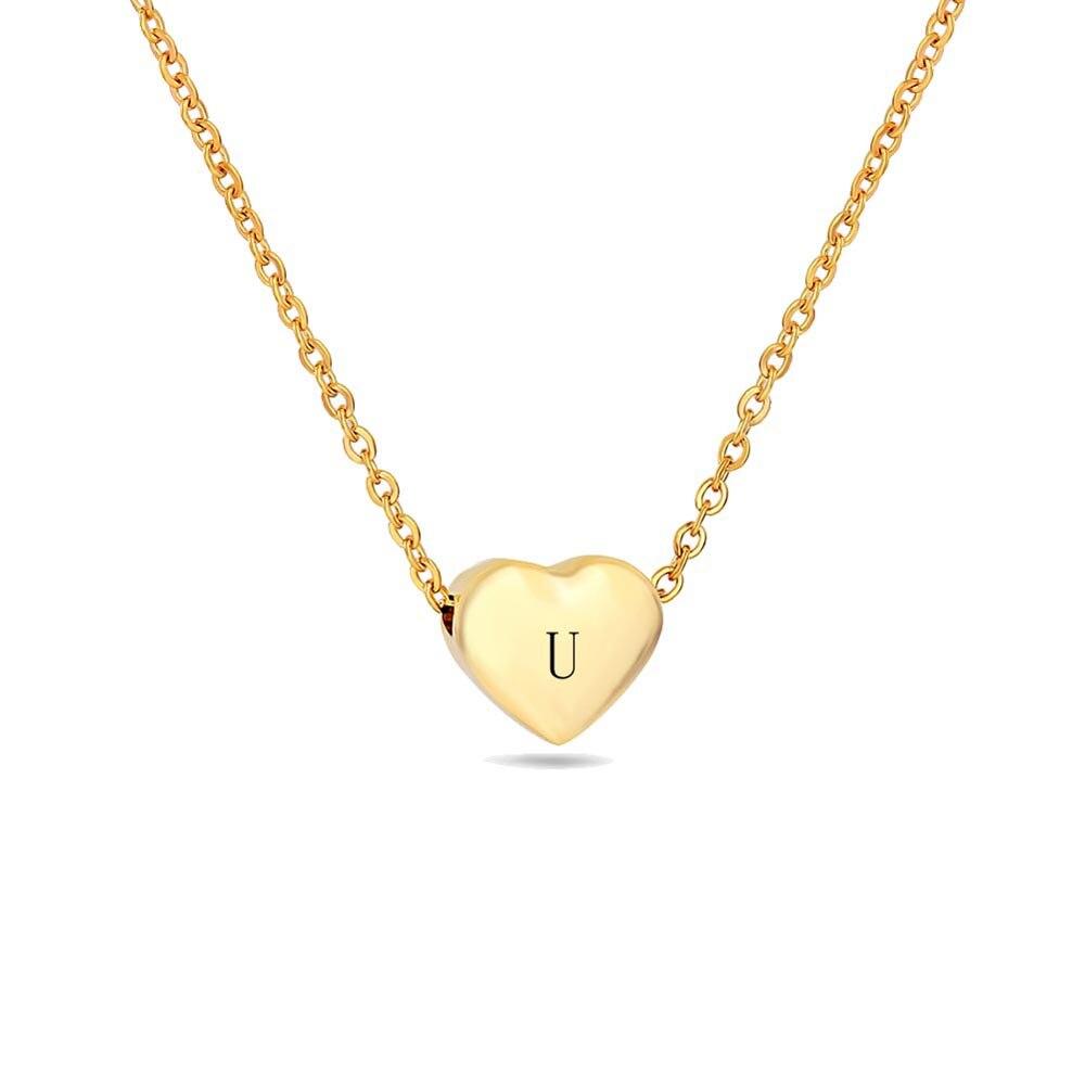 u initial necklace