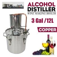 12L Home Moonshine Alcohol Distiller 3Gal used for Alcohol Making Home Wine DIY Beer Distilling Equipment
