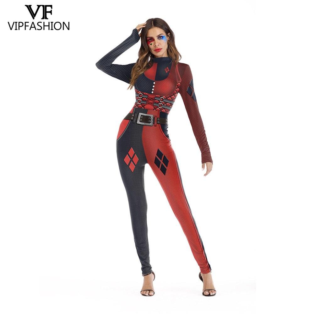 Womens Halloween Long Sleeve Fancy Jumpsuit Cosplay Costume Bodysuit Party Dress