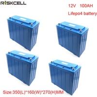 Без налогов 4 шт./лот 12 В 100ah литиевая батарея/LifePO4 Батарея пакет для мотоцикла/машина для гольфа