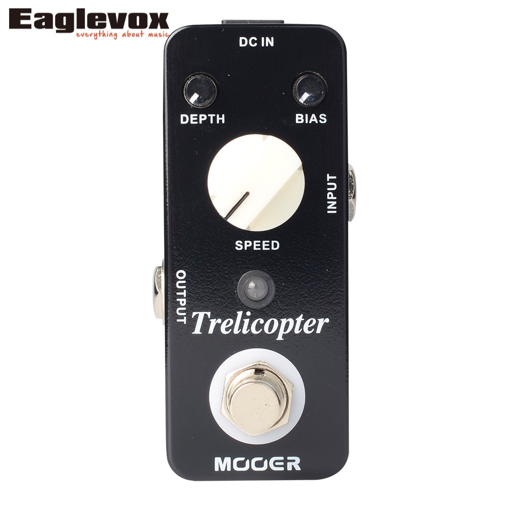 MOOER Trelicopter tremolo Electric Guitar Effects Pedal True Bypass mooer black secret distortion electric guitar effects pedal true bypass with free connector and footswitch topper