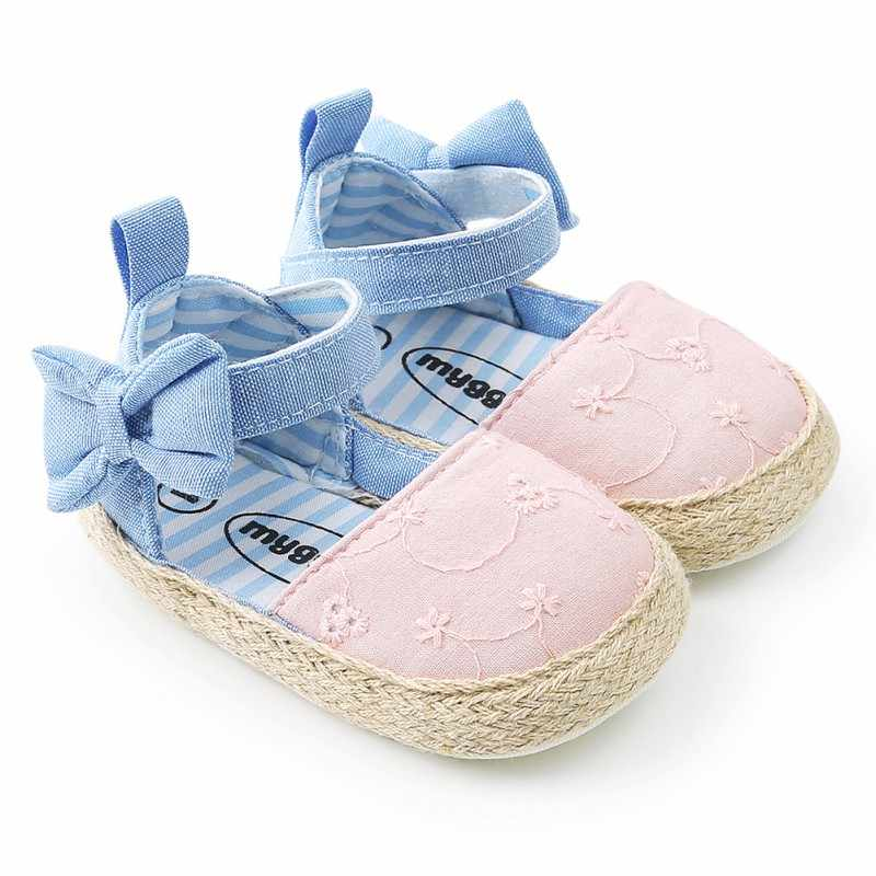 Bow Sandals for Girls Summer Newborn Cotton Baby Girl Sandals Fashion Beach Soft Shoes Princess Sandals 2018