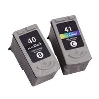 Hisaint 1 Set PG 40 CL 41 Ink Cartridge for Canon PG40 CL41 for Canon PIXMA IP2500 IP2600 MX300 MX310 MP160 MP140 MP150