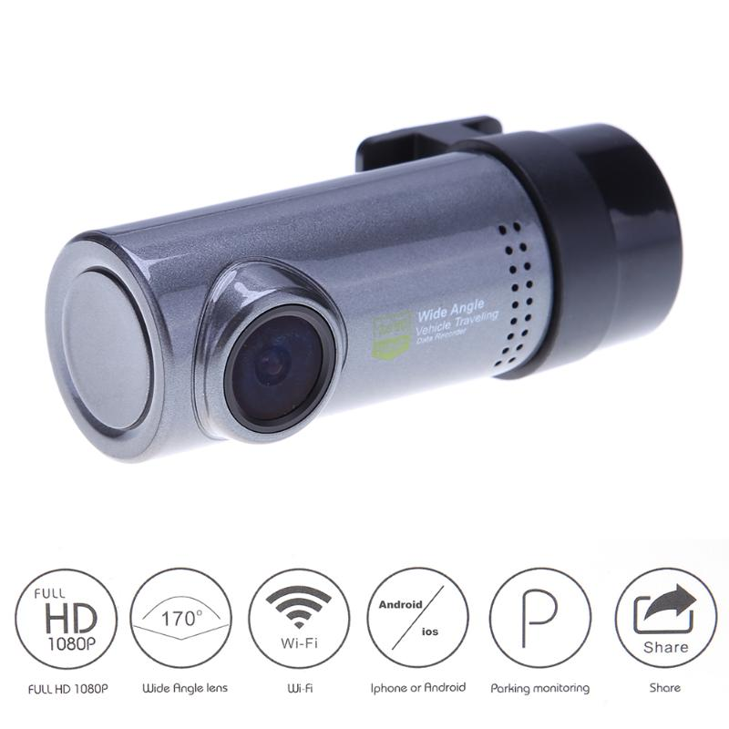 HD 1080P Dash Camera Car DVR Car DVR Camera Mini WiFi Car Front DVR Camera 140 Degree Night Vision Dash Cam Video Recorder