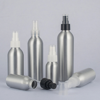 High quality primary color aluminium spray pump bottle 120ml packaging bottles for cosmetics