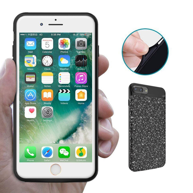 NEWDERY 2018New External 3D Audio Battery Charger Case For iPhone 7plus 8 Plus