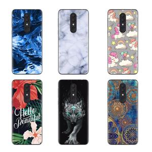 Image 4 - Shockproof Back Telefoon Cover Voor Alcatel 3 (2019) /5053 Cool Modieuze Ontwerp Soft Case Kleurrijke Painted TPU Silicone Cover