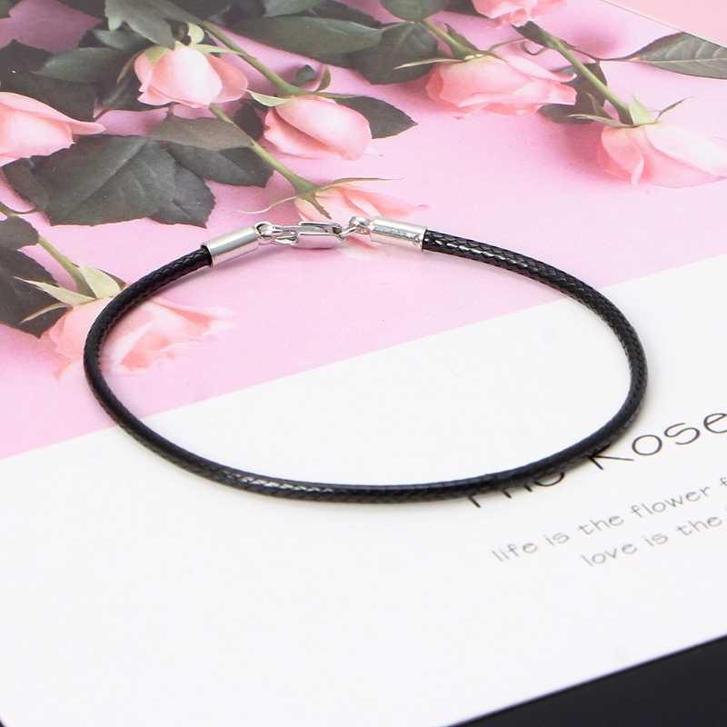 Klassieke Mode Zwart Lederen String Armband Rode Lijn Sieraden Lijn Touw Rode vrouwen Armband Kreeft Armbanden