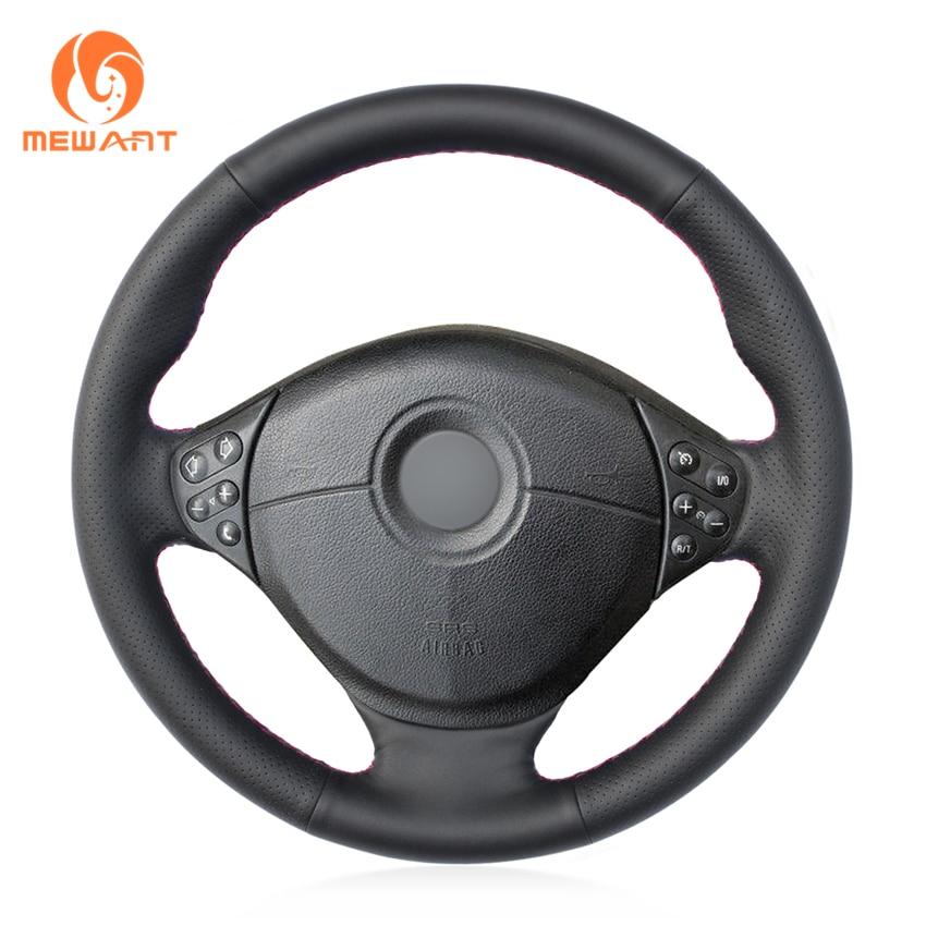 MEWANT Black Artificial Leather Car Steering Wheel Cover for BMW E39 5 Series 1999-2003 E46 3 Series 1999-2005 E53 X5 E36 Z3 mewant black genuine leather car steering wheel cover for bmw e46 e39 330i 540i 525i 530i 330ci m3 2001 2003