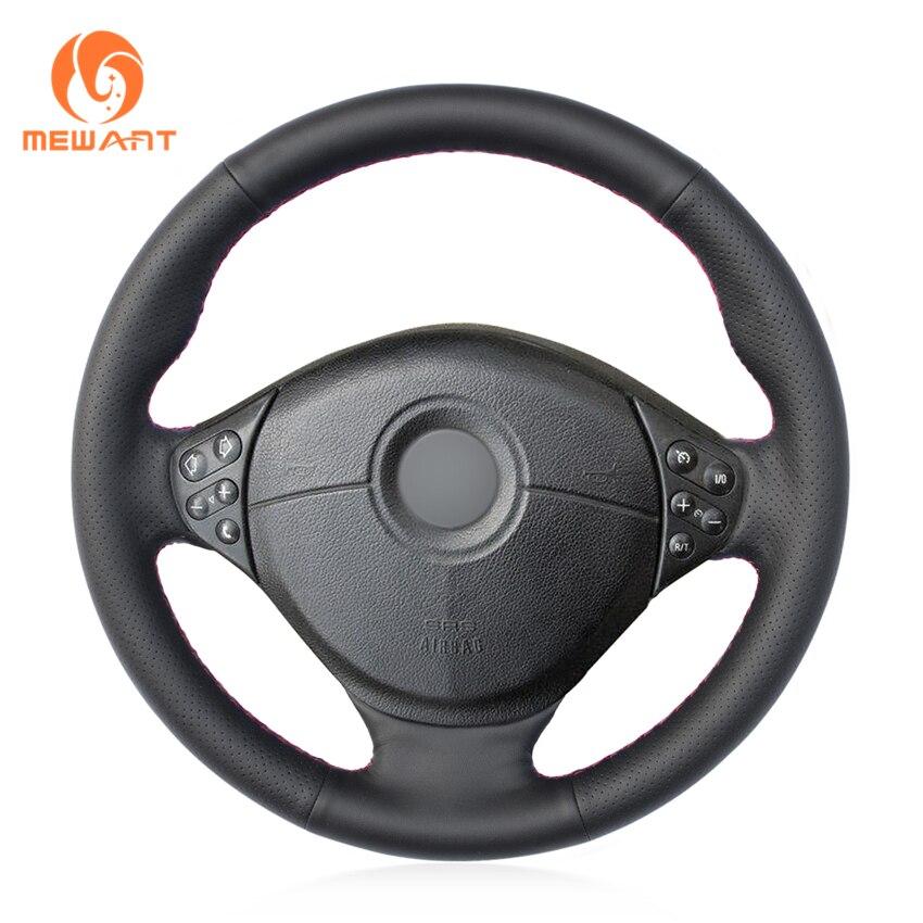 MEWANT Black Artificial Leather Car Steering Wheel Cover for BMW E39 5 Series 1999 2003 E46 3 Series 1999 2005 E53 X5 E36 Z3
