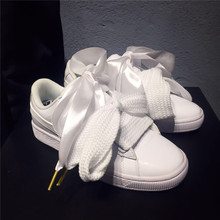 Puma shoes Breathable Puma Basket ribbon bow goddess shoes white women s  Sneakers size 36-39 467d196f3