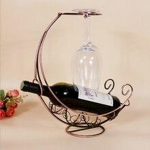 1 шт. 4 цвета железа винный шкаф Corsair висит чашки вино кадров Творческий декоративно-прикладного искусства украшения держатель вина KI 2081
