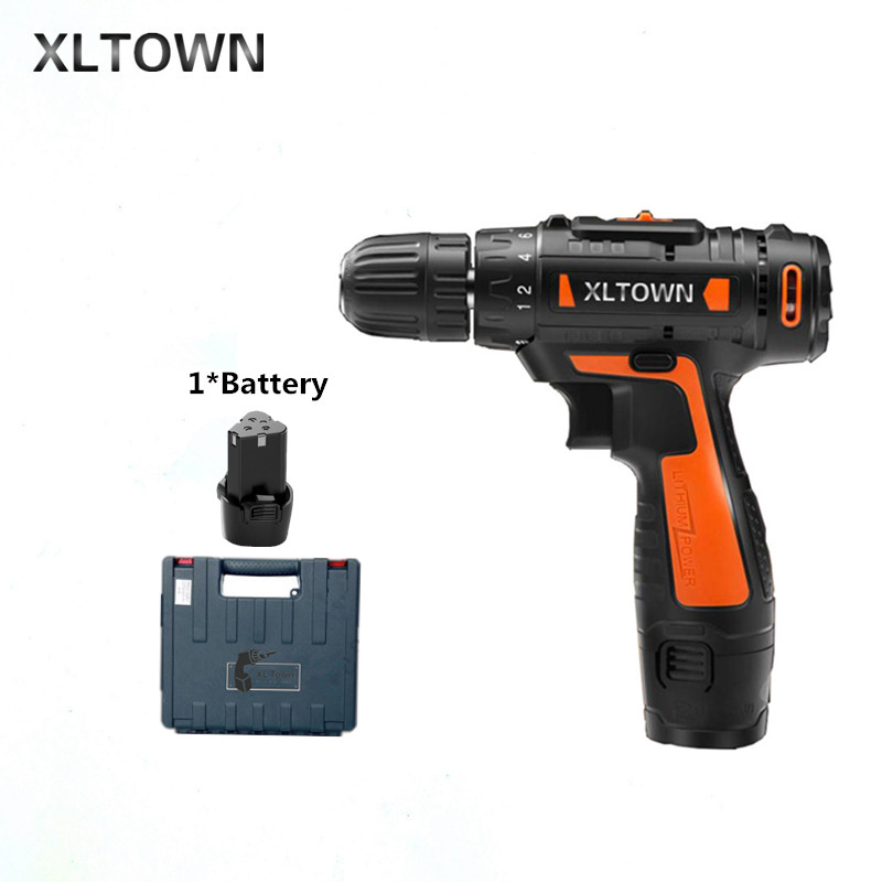 все цены на Xltown12v Cordless Mini Electric Drill Multi-energy lithium battery Two-speed electric screwdriver Electric drill power tools онлайн