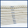 Beige Cotton Rope Manual Accessories Color Cotton Cords Twist Decoration Thick Beam Mouth Rope