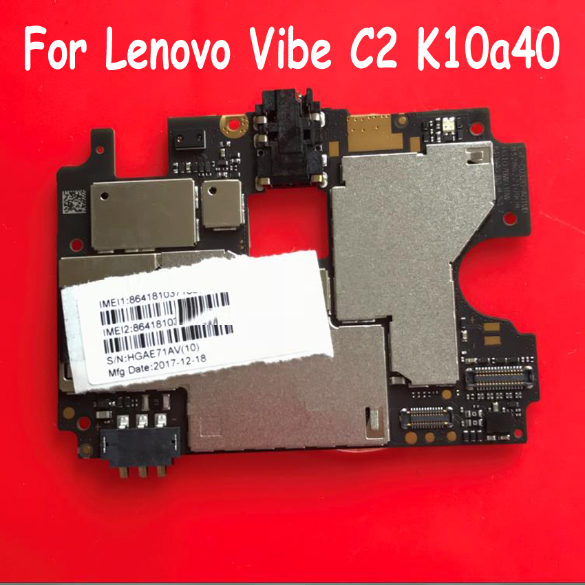 Original Best Working Mobile Electronic Panel Mainboard For Lenovo Vibe C2 K10a40 Motherboard Circuits Fee Flex Cable(China)