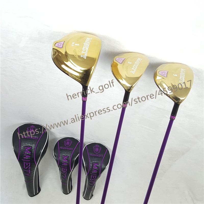 New Womens Golf Clubs Majesty Prestigio 9 Golf Driver 11.5 Loft Driver Clubs With Graphite Golf Shaft L Flex Free Shipping