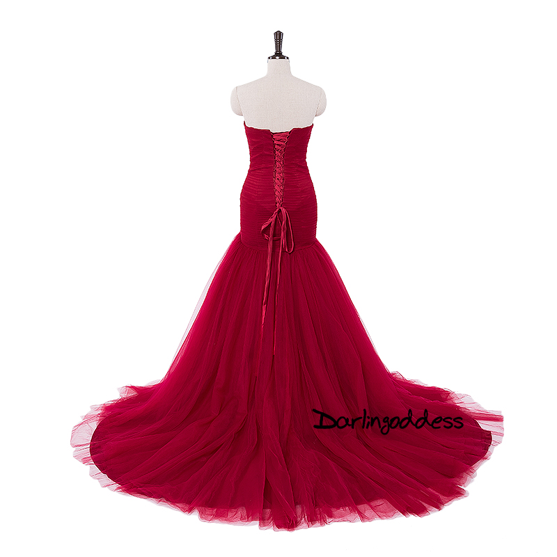 Real Photo Burgundy Arabic Pleated Mermaid Wedding Dresses Red Summer Off  Shoulder Plus Size Wedding Gowns 2017 vestido de novia 5bc0c6901053