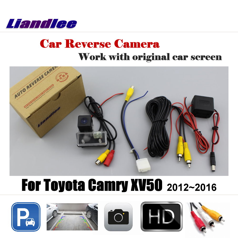 Liandlee For Toyota Camry XV50 2012 2016 Display Car Rear View Back Backup Camera Rearview Reverse