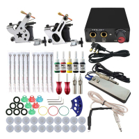 Tattoo Sets Tool Kit Coils Tattoo Gun MachinesInk Grips Needles Tips Power Supply Beginner Tatu Tattoo Supplies